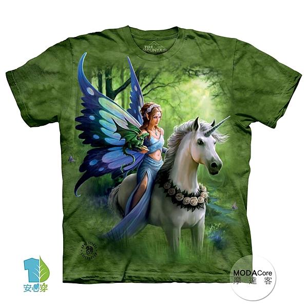 【摩達客】(預購)美國進口The Mountain 獨角獸仙女精靈 純棉環保短袖T恤(YTM104175737108)