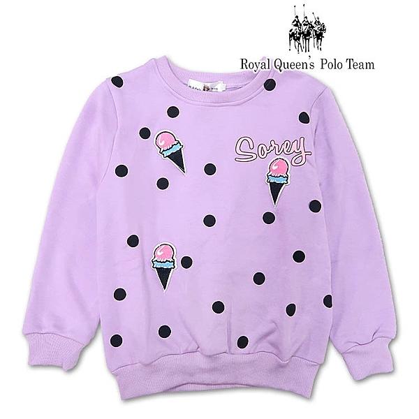 中大女童點點冰淇淋不倒絨刷毛休閒棉T[7327-8] RQ POLO  秋冬童裝