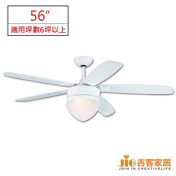 [吉客家居] LED情境調光吊扇- WF-034-389G-LED  56吋 金屬 現代風格