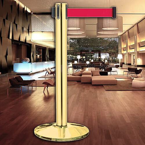 【 圍欄 飯店用品】鍍鈦豪華型加長型 E85AT-400 開店/欄柱/紅龍柱/圍欄/排隊/動線
