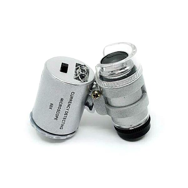 【中將3C】60X顯微放大鏡+3LED燈 (含驗鈔)   .F0005