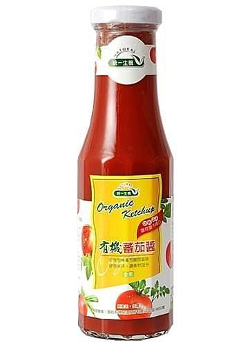 統一生機~有機蕃茄醬270公克/罐