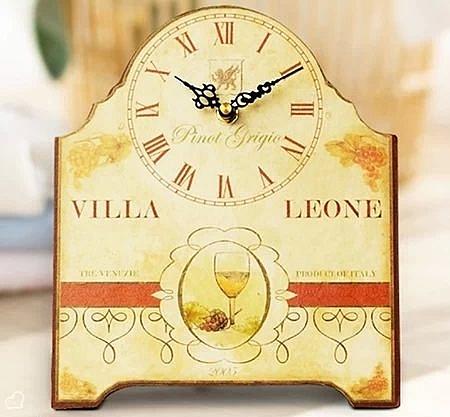 歐式座鐘創意時尚時鐘表現代靜音田園簡約書桌裝飾木制座鐘可掛鐘-719530010
