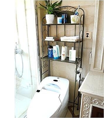 天天特價浴室置物架衛生間置物架馬桶架置物架洗衣機架臉盆收納架(青色)