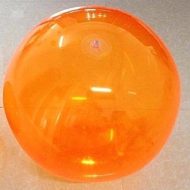[衣林時尚] 全透明橘沙灘球 海灘球 (充氣後直徑約24cm)  非INTEX商品