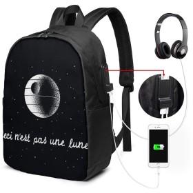これは月ではない リュック バックパックリュックサック USB充電ポート付き イヤホン穴付き 大容量 PCバッグ レジャーバッグ 旅行カバン 登山リュック ビジネスリュック ユニセックス おしゃれ 人気