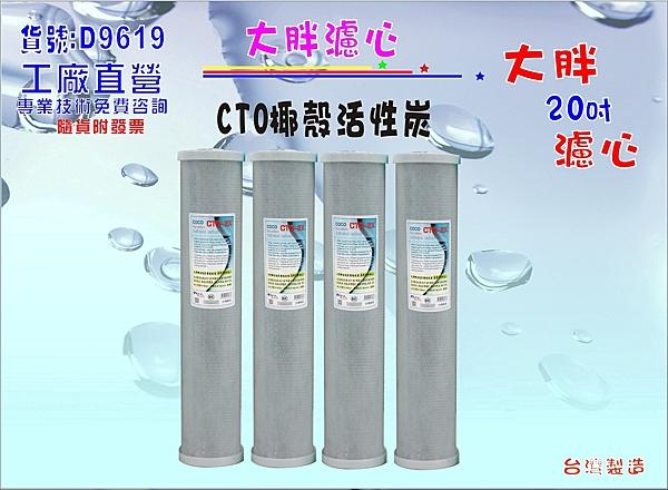 地下水淨水器20吋椰殼活性炭濾心.除泥除雜質.水塔過濾器.水族濾水器.貨號:D9619【巡航淨水】