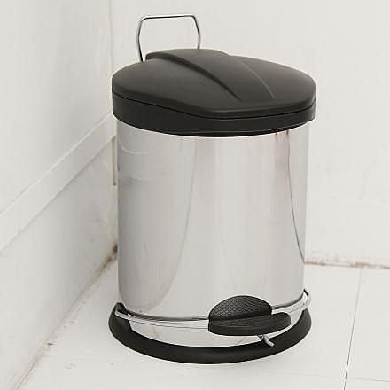 【H&R安室家】不鏽鋼腳踏垃圾桶-5L(台灣製造)-PB03C
