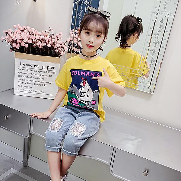 衣童趣♥夏季 熱賣款可愛動物圖案 短袖上衣 圓領外出休閒百搭款T