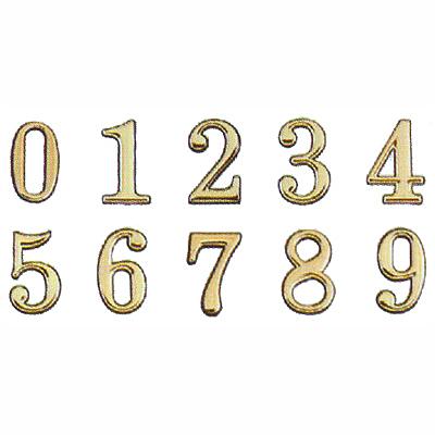 沙蒙DIY 圓弧燙金數字貼牌5cm 0~9 金字貼牌/黏牌/標示牌