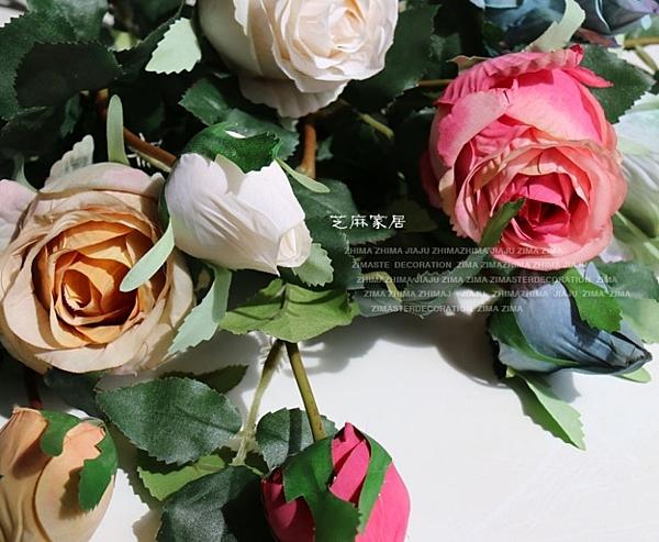 [協貿國際]兩頭超仿真花做舊美鄉村現代田園裝飾品擺放花藝