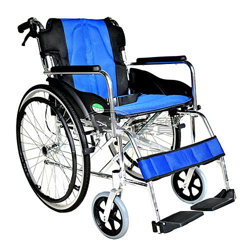 【贈好禮】頤辰 鋁合金輪椅 YC-868LAJ 中置踏板 背可折 機械式輪椅
