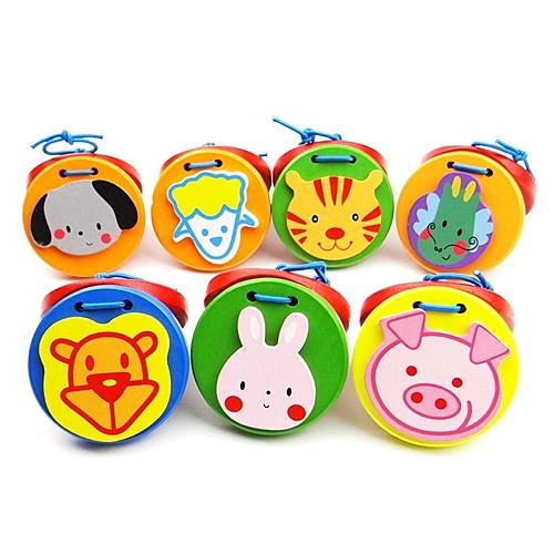 響板 寶寶樂器 音樂啟蒙教具 益智玩具 木製動物造型響板 88036