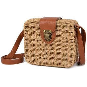 BOOMUP カゴバッグ トートバッグ ハンドバッグ 草編みバッグ 巾着バック 手提げ 肩掛け 斜めがけ 2way 編みバッグ おしゃれ 大容量 夏 旅行用