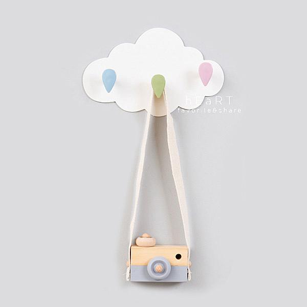 糖果色雲朵雨滴三連掛勾