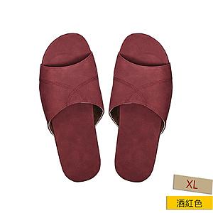 HOLA 抗菌皮拖鞋 緋紅色 XL