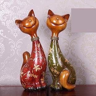 歐式樹脂發財貓擺件