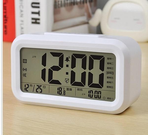❤️SG358❤️智慧工作型鬧鐘 帶溫度顯示/日曆/星期/時鐘/夜光/光控//懶人/LED電子鬧鐘CX-803