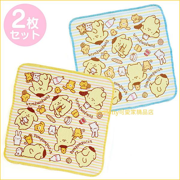 asdfkitty可愛家☆布丁狗廚房抹布-2入-35*35公分-日本正版商品