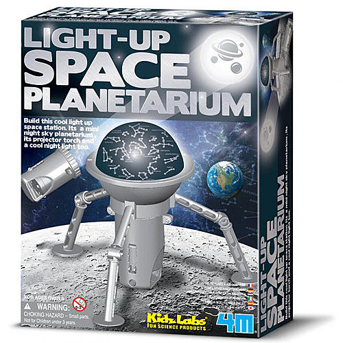 《4M科學探索》Light-Up Space Planetarium 創意太空塔 ╭★ JOYBUS玩具百貨