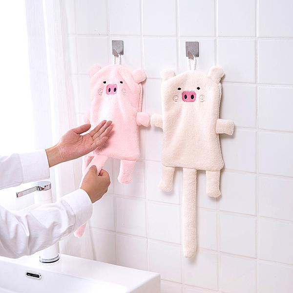 可愛動物擦手巾6 純棉吸水掛式擦手巾