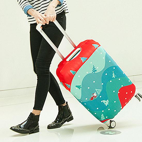 彈力行李箱防塵罩(S) 旅行 出差 拉桿 圖案 水洗 防塵 登機 保護 耐磨【N081】慢思行