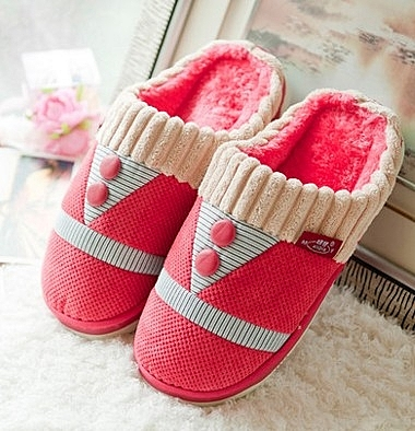冬季 半包跟厚底 防滑保暖 家居毛毛拖鞋