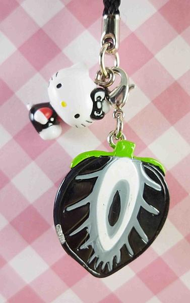 【震撼精品百貨】Hello Kitty 凱蒂貓~限定版手機吊飾-黑草莓