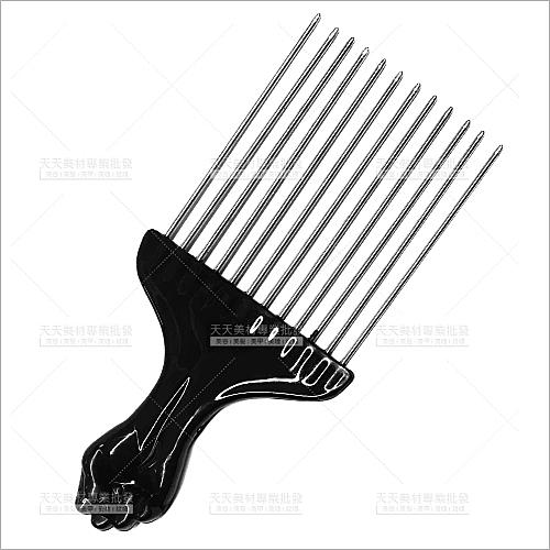 鐵黑人梳-單支(C405)挑梳.捲短髮專用[57432]