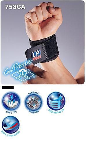 【宏海護具專家】 護具 護腕 LP 753CA 調整式腕部束套 單一尺寸 (1個裝) 【運動防護 運動護具】