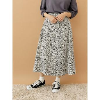 【6,000円(税込)以上のお買物で全国送料無料。】【WEB限定】ミニダルメシアン柄スカート