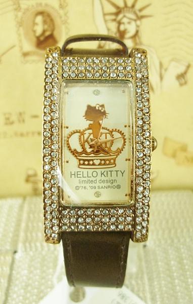 【震撼精品百貨】Hello Kitty 凱蒂貓~手錶-黃冠-咖【共1款】