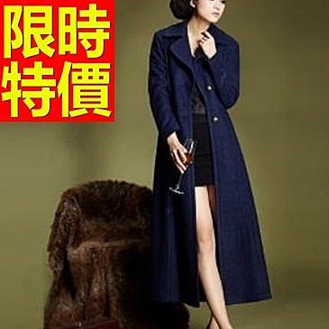風衣大衣 長版-造型羊毛保暖歐美女毛呢外套2色62v38[巴黎精品]