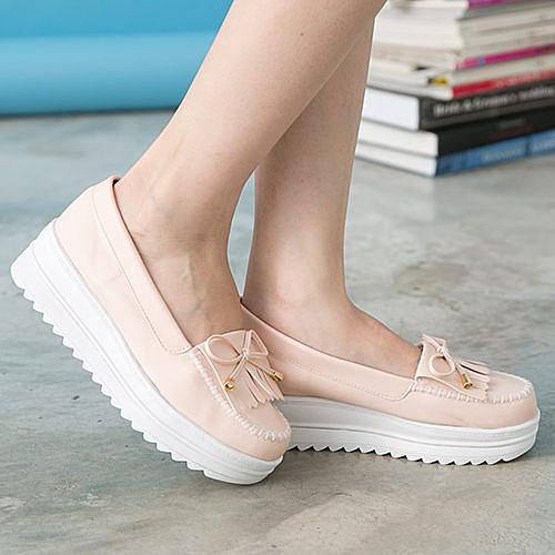 女款 韓系流蘇厚底莫卡辛 厚底鞋 鬆糕鞋 MIT製造 粉色 59鞋廊