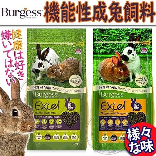 【培菓平價寵物網】Burgess伯爵》機能性成兔飼料-2kg