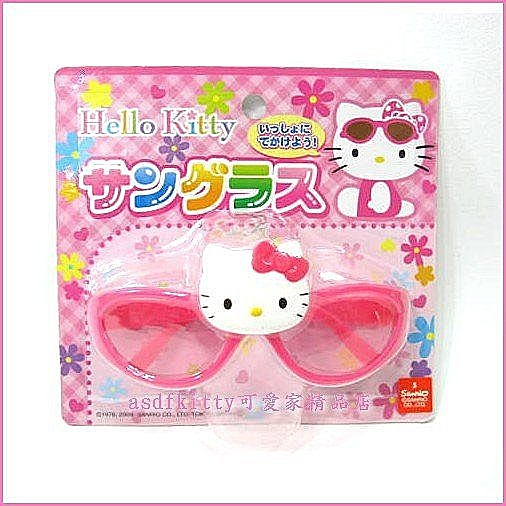 個人【asdfkitty可愛家】kitty粉色太陽眼鏡玩具-日本正版商品