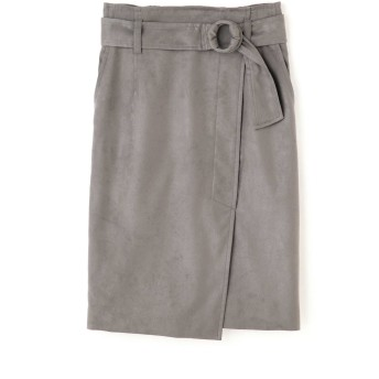 PINKY & DIANNE ◆フェイクスエードリングベルトスカート ひざ丈スカート,モカ6