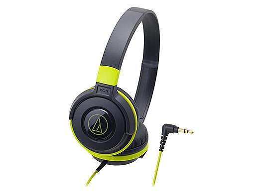 【台中平價鋪】全新 鐵三角 ATH-S100 頭戴式耳機 黑綠BGR  輕量機身 單邊出線 台灣鐵三角公司貨