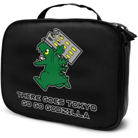 Godzilla ゴジラ 恐竜 化粧品収納ボックプロ用化粧ペンポケット メイクボックス 化粧道具入れ ジッパー付き 大容量 多機能 持ち運び便利 自宅 出張 旅行用 男女兼用