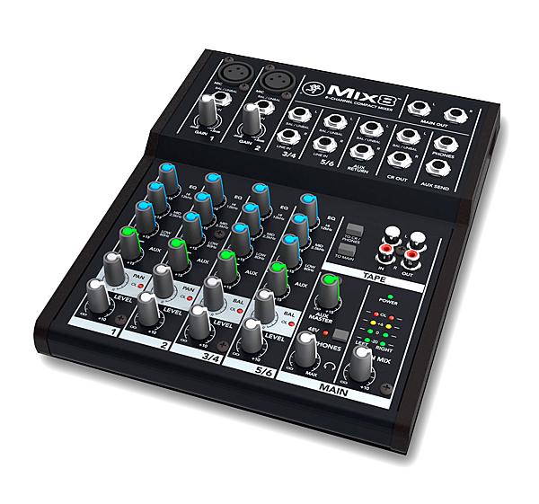 音響世界。發燒貨--美國MACKIE MIX8超優質8軌靈活型混音器