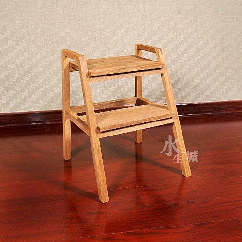 實木環保傢俱/橡木/梯凳