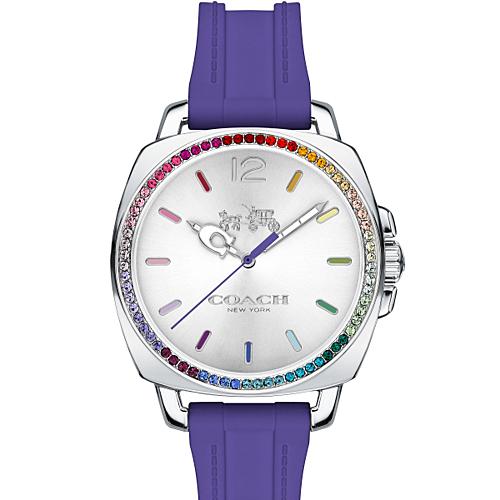 COACH 氣質時尚橡膠腕錶/14502530