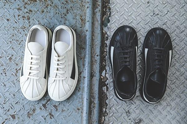 找到自己 MD 日系 高品質 時尚 潮 男 貝殼頭 手工縫製 真皮 綁帶 低跟休閒鞋 板鞋