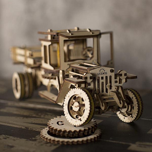 Ugears 自我推進模型 - 卡車全系列二件套組 (內含:四輪驅動卡車、卡車配件組) 強強滾