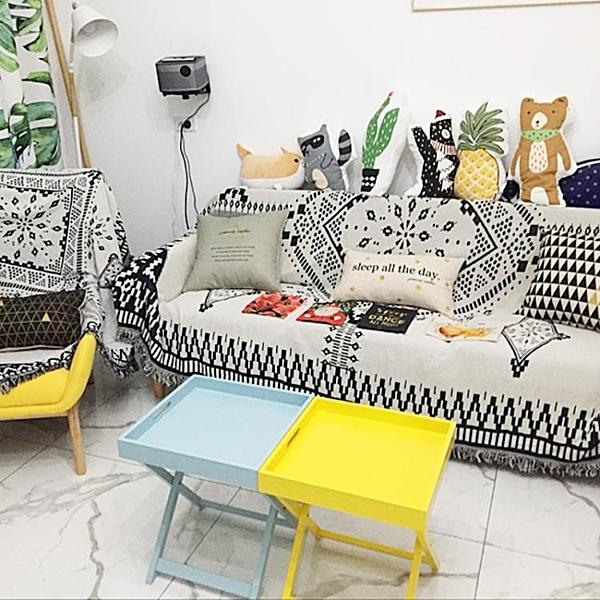 沙發小邊幾北歐客廳茶幾桌迷你角幾簡約現代托盤小桌子摺疊WY