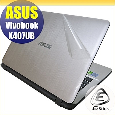 【Ezstick】ASUS X407 X407UB 二代透氣機身保護貼(含上蓋貼、鍵盤週圍貼) DIY包膜