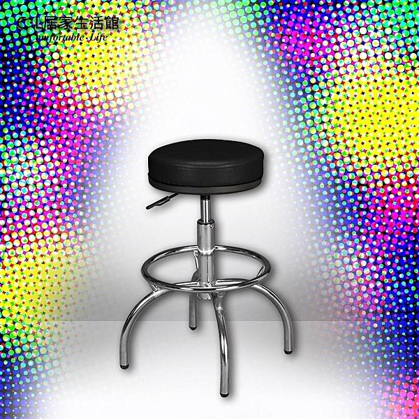 【 C . L 居家生活館 】Y812-8 厚墊四爪吧椅(黑皮/電鍍)