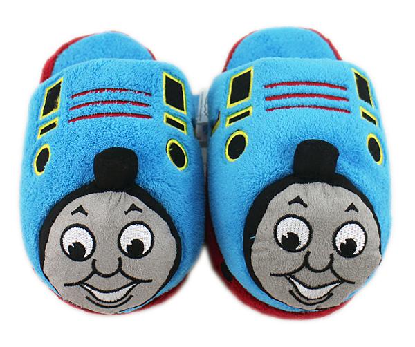 【卡漫城】 Thomas 絨毛 拖鞋 22CM ㊣版 毛拖 室內鞋 保暖 舒適 湯瑪士 小火車 蒸汽火車頭 兒童
