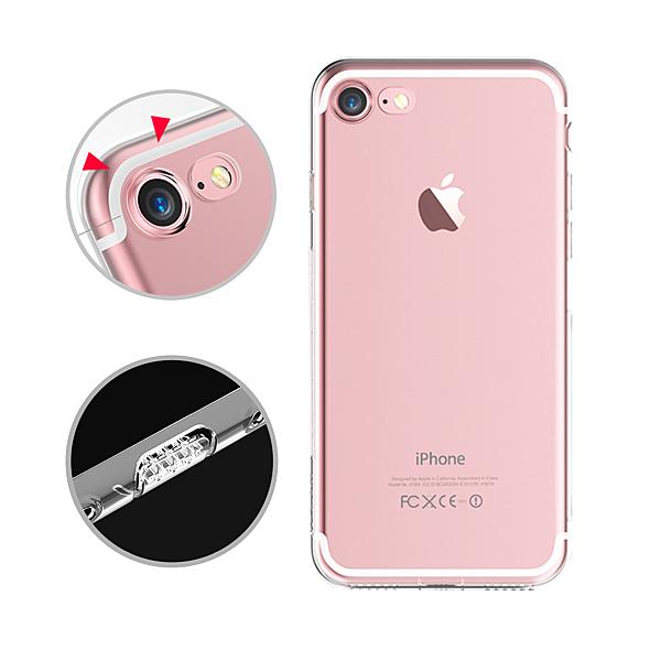 水漾 iPhone SE2/7/8 (4.7吋) 一體全包式帶防塵塞透明TPU手機軟殼