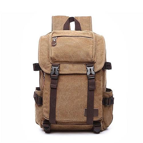 熱銷帆布包歐美男女復古雙肩包大容量學生電腦包書包【18-38006-58-1】【4色】*86精品女人國*
